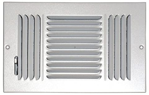 Speedi-Grille SG-810 CW3 8-Inch by 10-Inch White Ceiling/Sidewall Vent Register
