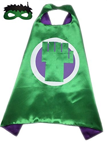 Ontario Warehouse Superhero Halloween Party Cape and Mask Set for Kids The Hulk ()