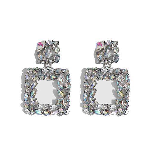 Bohemian Crystal Tassel Drop Dangle Earrings for Women Wedding Girls Flowers Pendant Earring Party Jewelry,A15