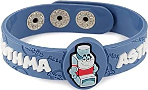 AllerMates Kids Medical Alert Food Allergy Bracelet Childrens Wristband - Many Varieties and Colors for All Conditions