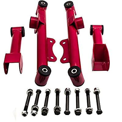 Rear Upper Lower Tubular Control Arm Kit w/Hardware for Ford Mustang 1979-2004: Automotive