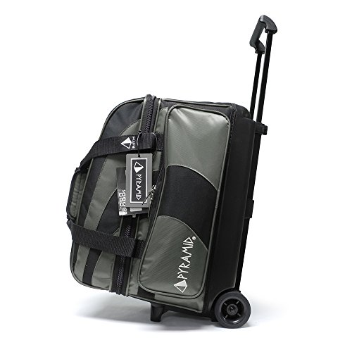 (Pyramid Path Deluxe Double Roller Bowling Bag (Black/Silver))