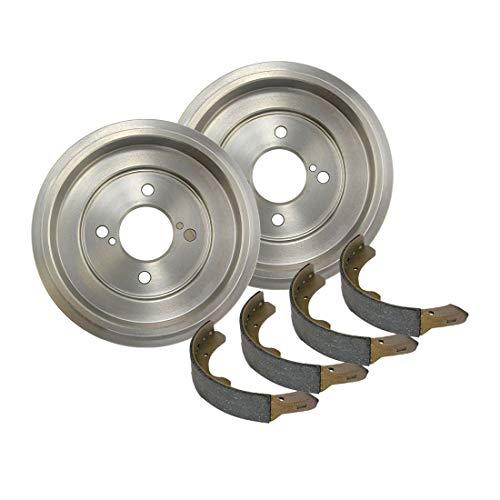 (Auto DN Rear Premium Brake Drum and Premium Shoe 3PCS for 2008-2014 Scion xD)