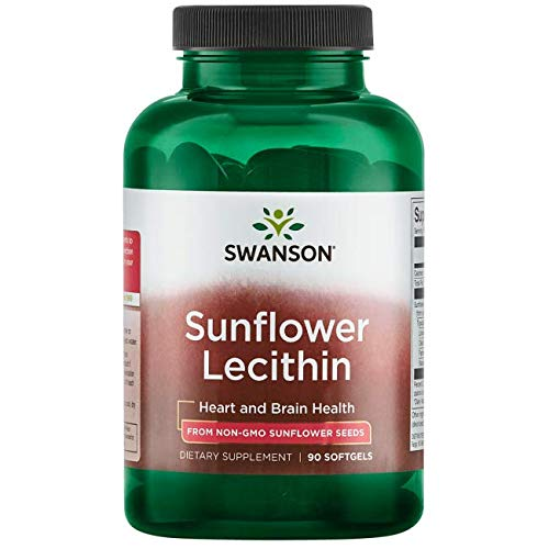 Swanson Sunflower Lecithin Non-Gmo 1200 Milligrams 90 Sgels