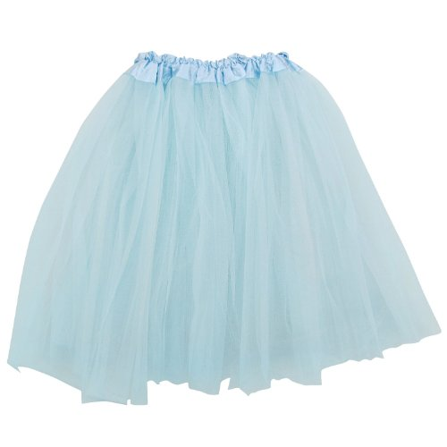 Adult Teen 3 Layer Tutu Skirt - Princess Costume Ballet Party Dance Race Outfit (Sky Blue),One ()