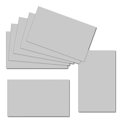 Color gris plateado. 60 mm x 100 mm. Tarjeta de placa. Hoja ...