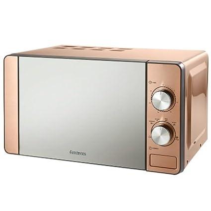 Elegante microondas de color cobre, capacidad de 20 L, de acero inoxidable