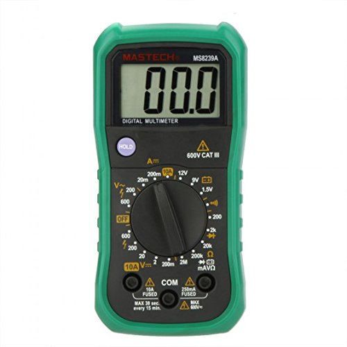 Mastech MS8239A Mini Digital Multimeter DMM AC/DC Voltmeter DC Ammeter Ohmmeter with Battery Test