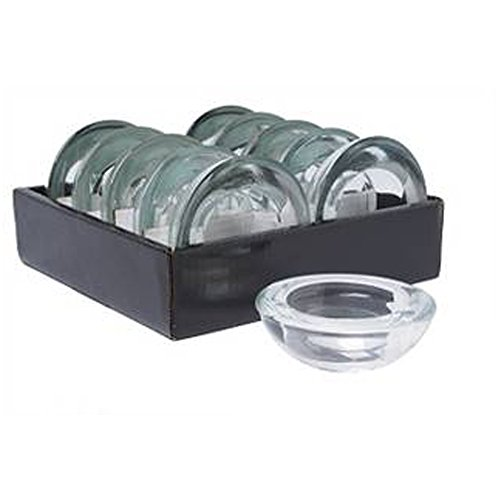 Hosley's Set of 10 Value Pack Glass Tea Light Holders - 3