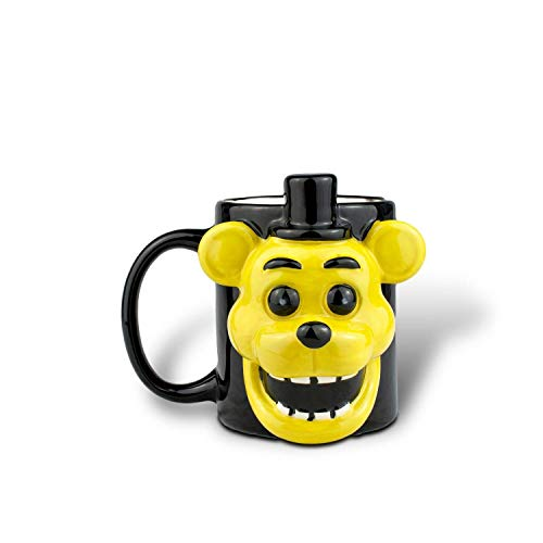Five Nights At Freddy Golden Freddy Fazbear Mug| 3D Ceramic Mug | 16 Ounces (Chica Five Nights At Freddys Fan Art)