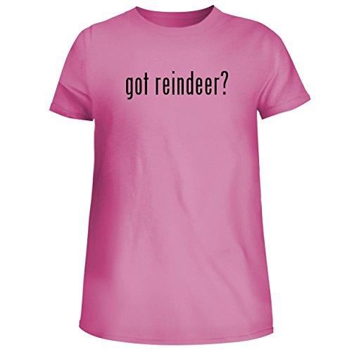 Reindeer Spun Glass (BH Cool Designs got Reindeer? - Cute Women's Junior Graphic Tee, Pink, XX-Large)
