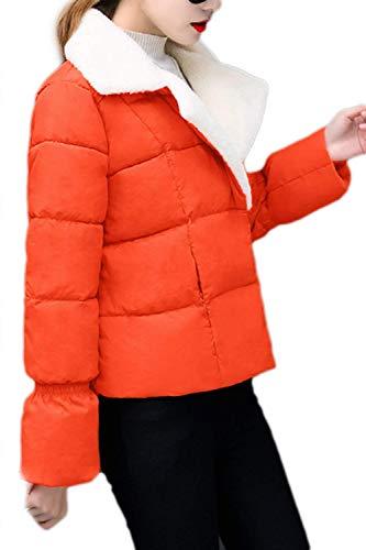Otoño Pluma Invierno Manga Abrigos Colmar Acolchada Naranja Doble Mujer Cazadoras Elegante Larga Cálido Chaqueta Bolsillos Con Abrigo Acolchado Informales Cómodo Colores Retro Sólidos Botonadura Fashion 8nqzd