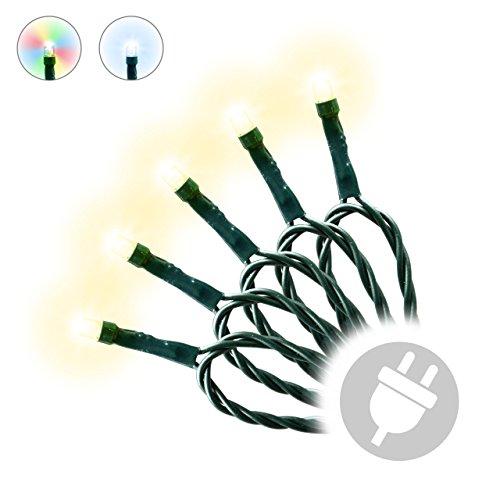 200er LED Lichterkette Innen und Außen grünes Kabel Weihnachtsbeleuchtung (warmweiß)