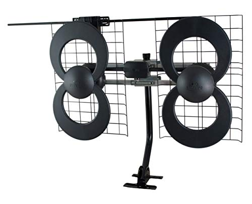 Antennas Direct ClearStream 4V TV Antenna, UHF/VHF, Multi-directional, Indoor, Outdoor, Mast with Pivoting Base/Hardware/Adjustable Clamp/Sealing Pads, 4K Ready, Black - C4-V-CJM (Renewed)