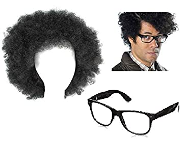 c2ba9cadbb Silver C Moss Wig And Glasses The I.T Crowd Channel 4 Travel Man Gadget Man  Fancy