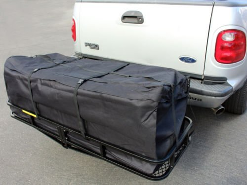 58'' Large Cargo Carrier Bag SUV RV Truck Hitch/Roof Top Rack Luggage Waterproof