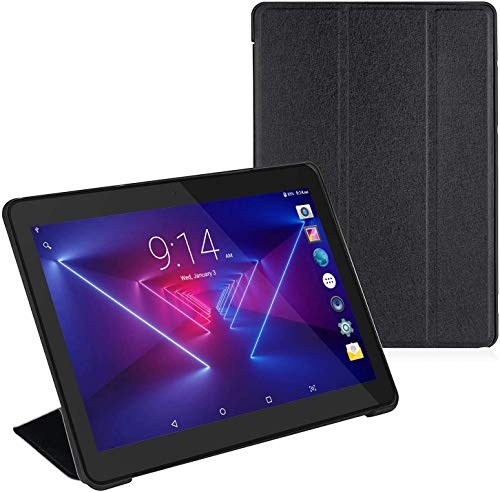 Tablet 10 inch+Protective Cover, Android 8.1 Go, 10.1″ 5G WiFi Tablets,6000mAh Battery,Quad-Core Processor, 800×1280 Touch Screen Full HD Display,1.3GHz,16GB, Bluetooth,Black