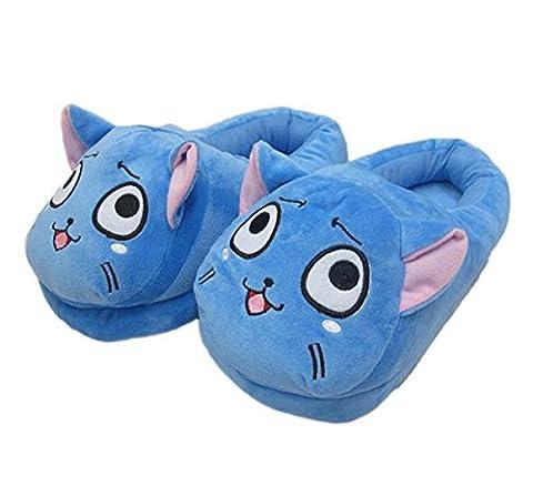 [Newest] Winter Warm Home Floor Slippers Anime Fairy Tale Habbie Cat Slipper