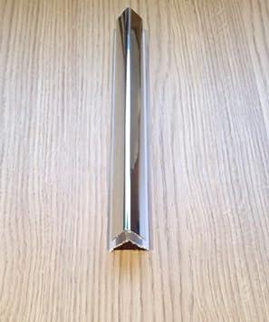 Silver 8mm External Corner Trim 2.6m Bathroom Wall Panels Shower PVC Cladding By DBS