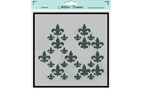 Melissa Frances Stencil 6x6 Fleur De Lis Missing