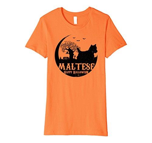Womens MALTESE Dog Halloween Costume T-shirts Large (Maltese Dog Costumes)