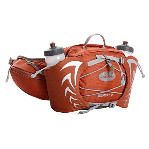 deportes al aire libre a prueba de agua bolsillos multifunción correr/paquete de caldera-negro naranja