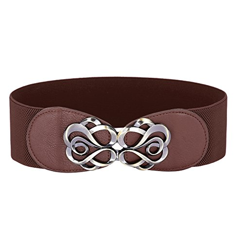 Belle Accessories Women Waist Belt For Dress Brown L Cl413-6, Coffee