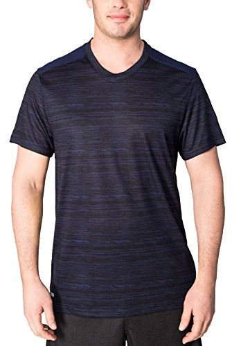 RBX Active Men's Basic Heathered Workout Tee Navy L