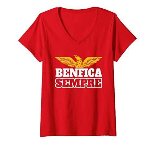 Womens BENFICA Sempre Fans Tee Soccer Shirt Football Portugal  V-Neck T-Shirt