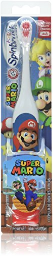 Kids Battery Toothbrush - ARM & HAMMER Kid's Spinbrush Super Mario Powered Toothbrush, 1 Count