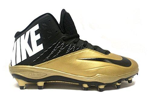 Nike Zoom Code Elite 3/4 TD PF Football Cleats (18, Black/Gold/White)