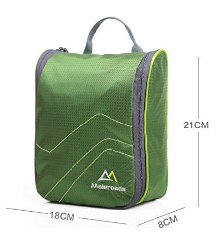 LIGHTING sacchetto della lavata di corsa impermeabile / esterno / viaggio borse Kit di lavaggio per gli uomini e le donne-Black