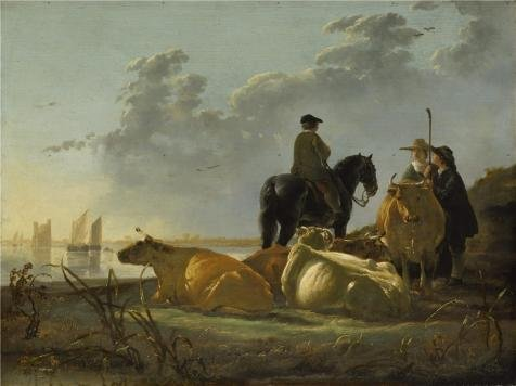 Debbie Harry Halloween Costume (The High Quality Polyster Canvas Of Oil Painting 'Aelbert Cuyp - Peasants And Cattle By The River Merwede,about 1658-60' ,size: 8x11 Inch / 20x27 Cm ,this High Resolution Art Decorative Prints On Canvas Is Fit For Dining Room Decoration And Home Gallery Art And Gifts)