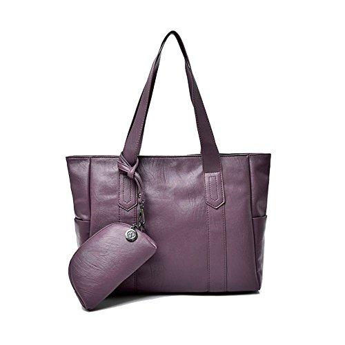 Capacité Violet Fourre D'épaule De Nclon tout Simple Sac Pu violet Cuir Rétro Grande Bandoulière Dame Grand Sac Sacs TYTUq1
