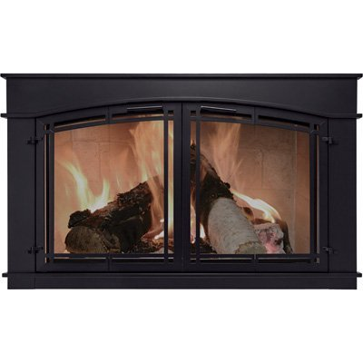 Pleasant Hearth Fieldcrest Fireplace Glass Door - Black, Mod