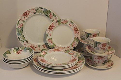 Johnson Brothers Staffordshire Katherine Pattern Dinnerware SET/20 Dinner Plates~Salad Plates~ Soup/Cereal Bowls~Cups~Saucers~ BONUS 12