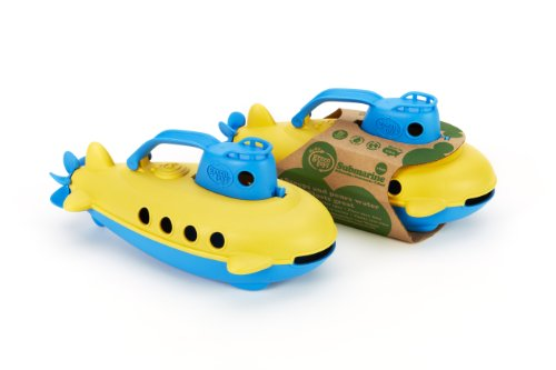 41Jjom3llZL - Green Toys Submarine - BPA, Phthalate Free Blue Watercraft with Spinning Rear Propeller Made from Recycled Materials. Safe Toys for Toddlers