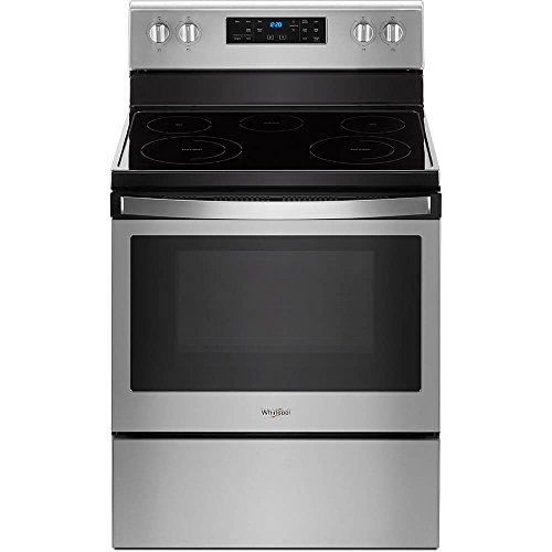 Whirlpool WFE525S0HZ 5.3 Cu. Ft. Stainless 5 Burner Electric Range