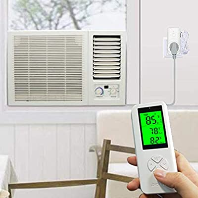 DIGITEN Wireless Temperature Controller Thermostat Outlet Remote Control Thermometer with 2m//6ft NTC Temp Sensor Probe 3 Prong Plug Heating Cooling Mode for Fan Heater Greenhouse