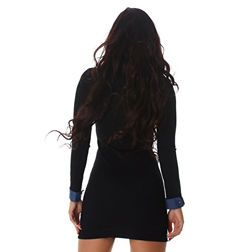 Enzoria - Vestido - Camisa - Manga Larga - para mujer negro