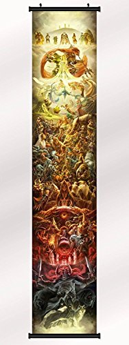25th Anniversary Poster (The Legend of Zelda 25th Anniversary poster with wall scroll 130 inch x 24 inch / 71 inch x 13 inch)