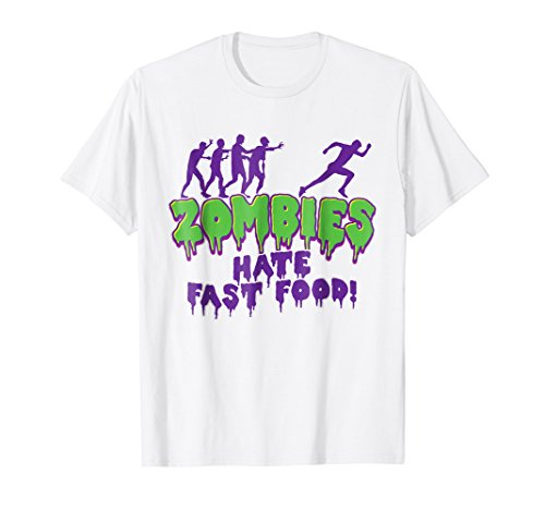 Funny Zombies Hate Fast Food Halloween (Halloween Graveyard Food)