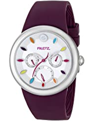 Fruitz by Philip Stein Unisex F43S-TF-PR Stainless Steel Watch With Purple Band