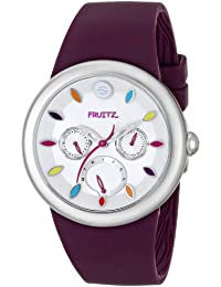 Unisex F43S-TF-PR Stainless Steel Watch With Purple Band