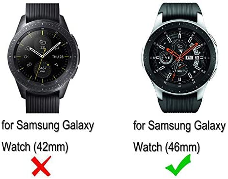 B-Great 22mm Quick Release Silicone Watch Band Compatible with Samsung Galaxy Watch (46mm) Samsung Gear S3 Frontier/Classic TicWatch Pro Amazfit Pace ...