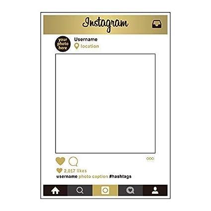 Trimming Shop 1 Pieza Tamaño Grande Fiesta Accesorios fotomatón Marco Solo Instagram
