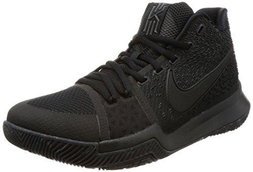 Nike Männer Kyrie 3 Basketball Turnschuhe Schwarz / Schwarz-Schwarz