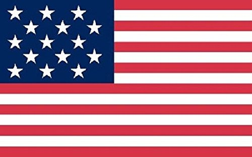 Moon 15 Star Spangled Banner Flag USA United States Historical Banner Pennant 3x5 New Vivid Color and UV Fade Resistant Canvas Header and Double Stitched Polyester Materia