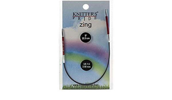 Knitters Pride KP140393 Zing Fixed Circular Needles 9-Size 1.5//2.5mm
