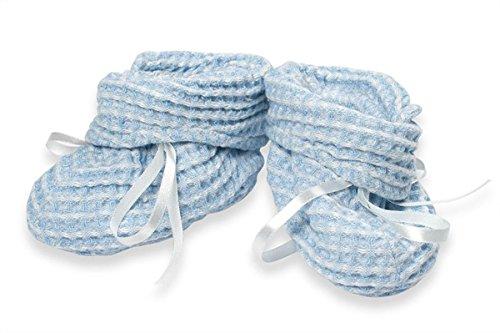 Babyschuhe aus Leinen, hellblau